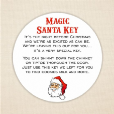 Magic Santa Key Labels 37mm Round Paper Label - Christmas Fun